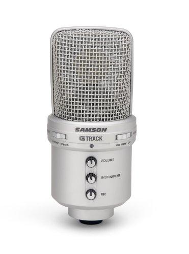 Samson G-Track USB Studiomikrofon mit integriertem Audiointerface, Stativ und Cakewalk Sonar LE