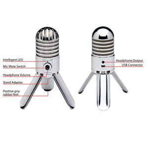 Samson Meteor Mic USB Studio/Podcast Mikrofon silber - 2