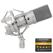 Auna MIC-900S USB Kondensator Mikrofon für Studio-Aufnahmen inkl. Spinne (16mm Kapsel, Nierencharakteristik, 320Hz - 18KHz) silber - 1