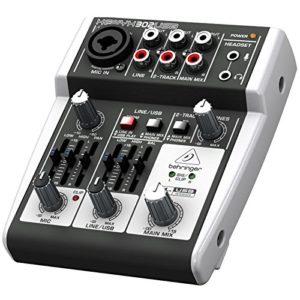 Behringer Mischpult XENYX 302USB 5-Input Mixer mit XENYX Mic Preamp und eingebautem USB Audio Interface - 6