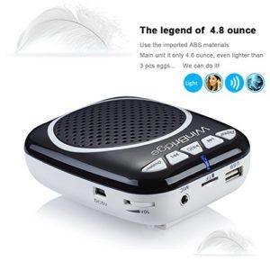 WinBridge WB001 Ultraleicht Stimmverstärker Tragbarer Sprachverstärker mit Mikrofon unterstützt das MP3 Audioformat für Reiseführer, Lehrer, Trainer, Vorträge, Kostüme, Usw.-Schwarz - 5